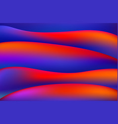 red and blue liquid color background design fluid vector image