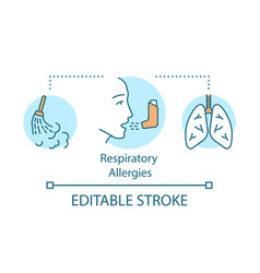 Respiratory allergies concept icon airborne vector