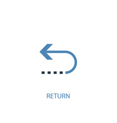 Return concept 2 colored icon simple blue element vector