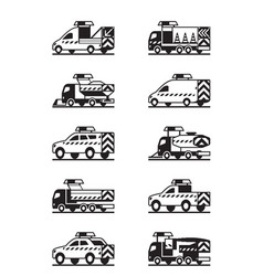 Road maintenance vehicles vector