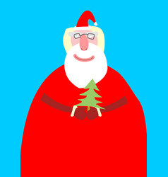 Santa claus isolated merry christmas grandfather vector