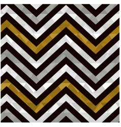 seamless gold zig zag pattern vector image