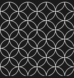 seamless pattern with circles ovals vector image