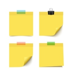Set of four sticky notes vector