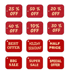 set of price tags labels vector image