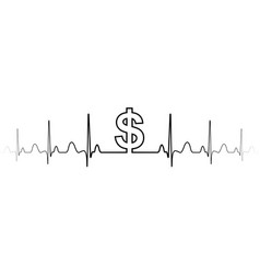 sign symbol fluctuations in exchange rate dollar vector image
