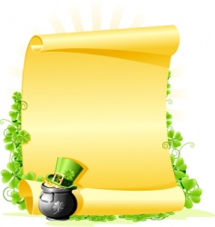 St. Patrick's Day blank Letter vector image