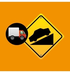 Steep traffic sign concept vector
