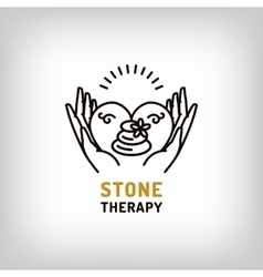 stone therapy beauty spa relax icon vector image