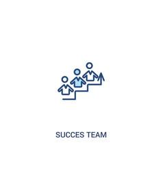 Succes team concept 2 colored icon simple line vector