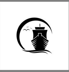 Sunshine with sailing ship activity vector