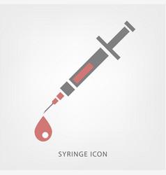 syringe icon image vector image