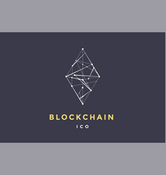 template logo for blockchain technology vector image