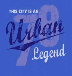 urban legend vector image