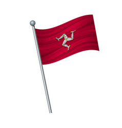Waving flag on flagpole official colors and vector