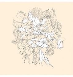 wedding bunch vector image