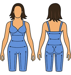 Woman mannequin slimming underwear torso vector