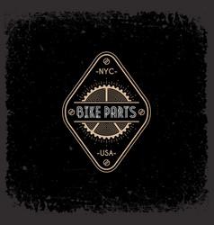 bike parts label vector image