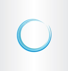 blue water wave circle design element vector image vector image
