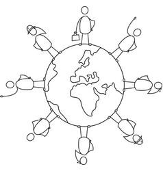 diversity earth vector image