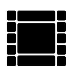 film strip silhouette icon video symbol vector image