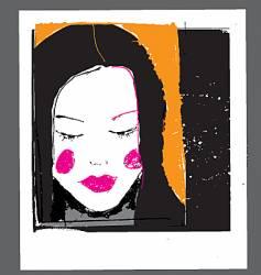 girl face sketch vector image vector image
