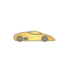 sport car computer symbol vector image vector image