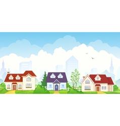 Summer suburb vector image