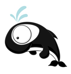 big eyed killer whale vector image
