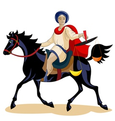 Equestrian of the ApocalypseHunger vector image