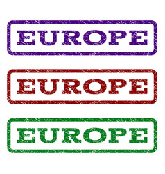 europe watermark stamp vector image vector image