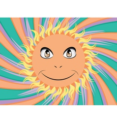 Happy sun face vector image vector image