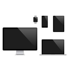 set of Modern Digital devices Computer vector image