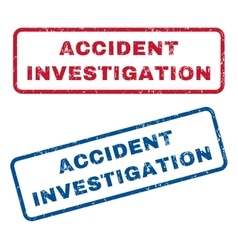 Accident investigation rubber stamps vector