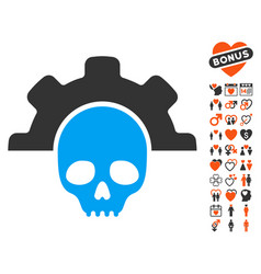 dead tools icon with love bonus vector image