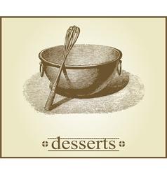 dessert cover design vector image