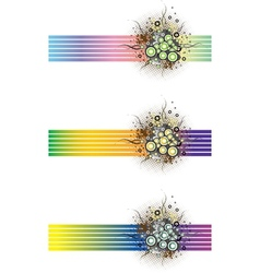 Floral grunge banners vector image vector image