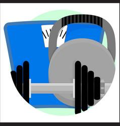 sport app icon vector image vector image