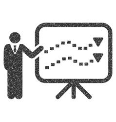 Trends Presentation Grainy Texture Icon vector image vector image