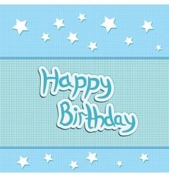 greeting card greetings happy birthday vector image