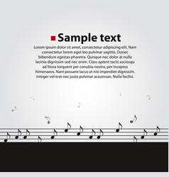 musical dark background vector image vector image