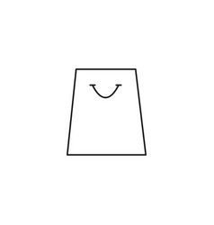 store bag line icon vector image
