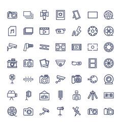 49 camera icons vector