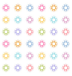 abstract floral background texture in ornamental vector image