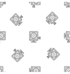 Action camera pattern seamless vector
