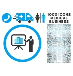 Architecture Presentation Icon with 1000 Medical vector image