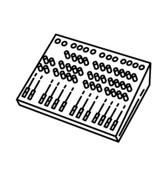 Audio consoles icon doodle hand drawn or outline vector
