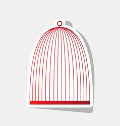 bird cage sign new year reddish icon with vector image