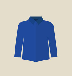 blue shirt vector image