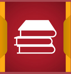 Book icon for web and mobile vector